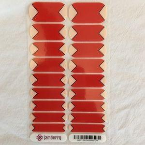 NWT Exclusive Red Jamberry Nail Wraps 💅FullSet